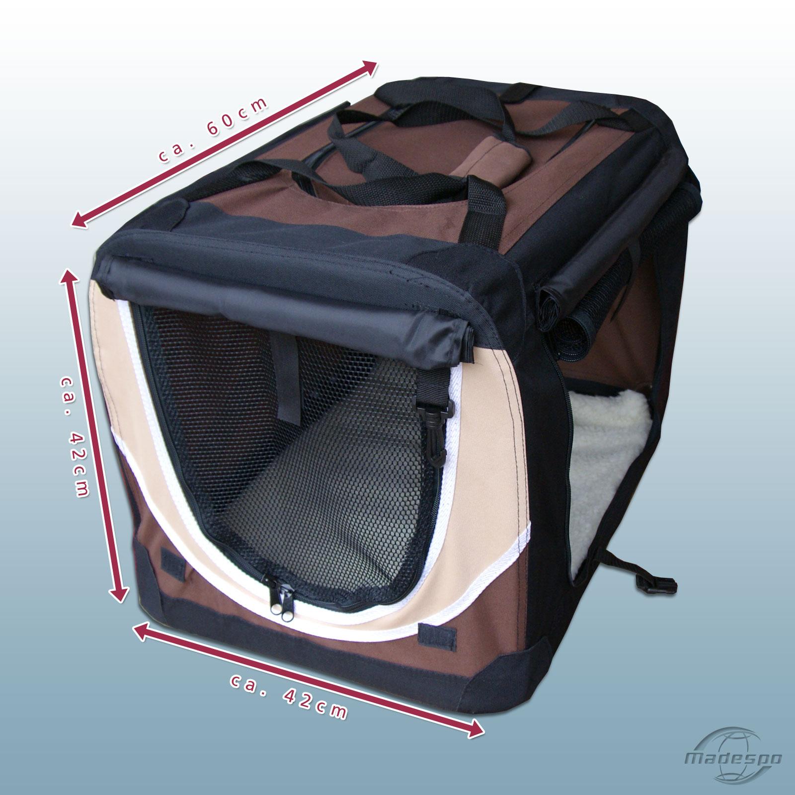 faltbare hunde transportbox auto hundebox box gr e m 4. Black Bedroom Furniture Sets. Home Design Ideas
